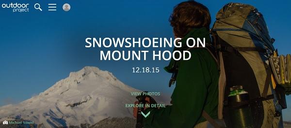 snowshoe mount hood
